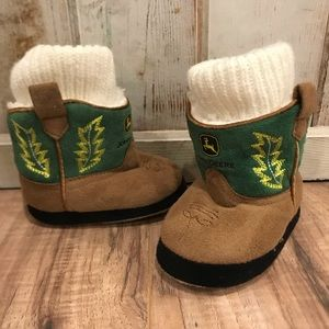 Tiny John Deere Slipper Boots
